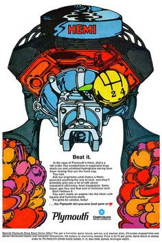 Pin By Obiwon Kinobi On Muscle Cars Vintage Cars Mopar Psychedelic Experience, Psychedelic Art, Car Posters, Poster Ads, Vintage Advertisements, Vintage Ads, Vintage Iron, Vintage Signs, Le Mans