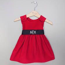 Monogramed Christmas dress for a little girl / toddler