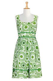 Radiating print retro frock- Cool Site Customize your dresses for $7.50
