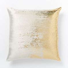 Faded Metallic Texture Pillow Cover - Gold | west elm