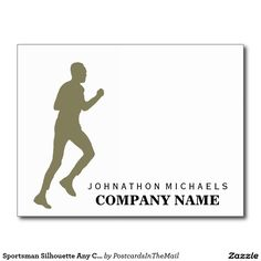 Sportsman Silhouette Any Color Postcard