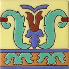 "Handmade relief tiles ""Pablo""  #mymexicantile"
