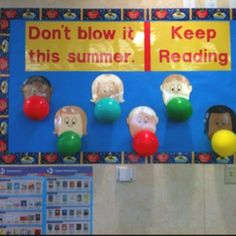 end of year bulletin board ideas | ... Boom Reading Corner Idea » Cruising Into Summer Bulletin Board Idea