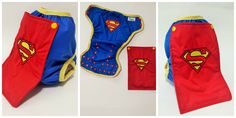 Superman OS diaper cover with detachable cape