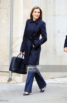 Queen Letizia of Spain arrives to a meeting at the Spanish Association Against Cancer (AECC) on January 10, 2017 in Madrid, Spain.  (Photo by Europa Press/Europa Press via Getty Images)