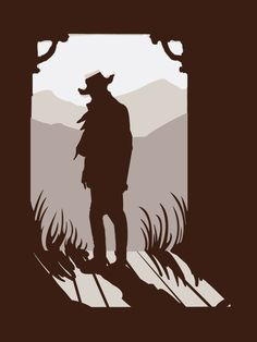 Old Western Silhouette by mollygrue on @DeviantArt