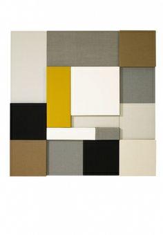 Whisper, pannello decorativo fonoassorbente, in cotone e cellulosa; la misura cm 75x70