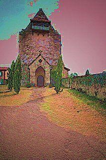 Vielle Soubiran - Landes - Devant la beauté de cette fortification, ma vision se déforme et je deviens un peintre.