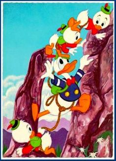 Climbing  with Huey, Dewey, and Louie (63 pieces)