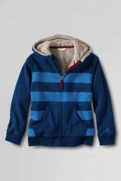 Toddler Boys' Pieced Long Sleeve Sherpa Hoodie