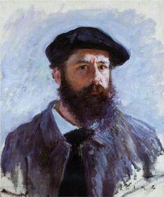 Self-Portrait with a Beret - Claude Monet