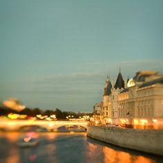 Amore lungo la Senna - Parigi fotografia, San Valentino, romantici cuori, ponte, blu notte, Twilight