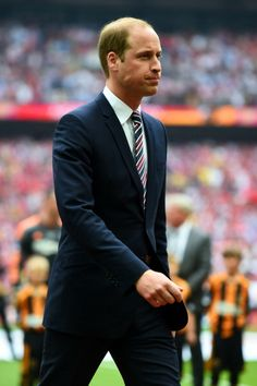 President of the Football Association, Prince William, Duke of Cambridge looks on before the FA Cup with Budweiser Final match between Arsenal and Hull City at Wembley Stadium on May 17, 2014 in London, England,