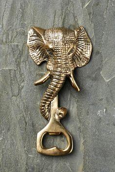 Gold Elephant Bottle Opener