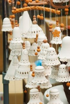 Stock image of 'Clay products in the form of bells'