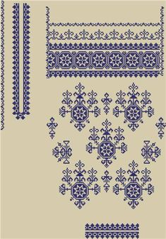 Beading _ Pattern - Motif / Earrings / Band ___ Square Sttich or Bead Loomwork ___ Folk Embroidery, Embroidery Patterns Free, Beading Patterns, Cross Stitch Embroidery, Embroidery Designs, Cross Stitch Borders, Cross Stitch Designs, Cross Stitching, Cross Stitch Patterns