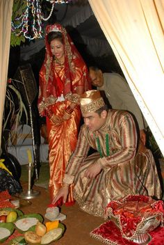 Nepali Bride and Groom ....Shared picture from Beatification Boutique BARS Internationl pvt .Ltd