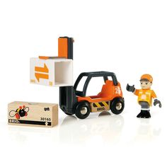 Love your wooden trains and adore cars and trucks and forklifts? Lucas found this at the warehouse the other day 'Mum can I have this please?' No surprise for me he loves orange he loves little people and of course it has wheels. We have collected a huge range of fun Brio toys to help extend the play options with your trains. This little forklift will also help them to learn and use fine motor skills. Lift that box move that load! http://www.lucaslovescars.com.au