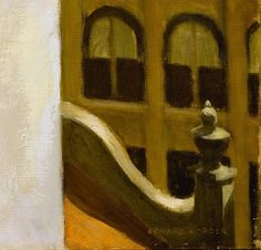 """Edward Hopper """"Office in a Small City"""" (detail)"""
