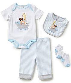 Starting Out Baby Boys Newborn-9 Months Noah´s Ark 4-Piece Layette Set