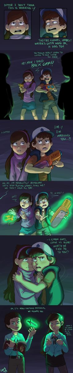 Reverse falls v.s Mabel and Dipper! Reverse Gravity Falls, Gravity Falls Au, Reverse Falls, Dipper Pines, Dipper And Mabel, Mabel Pines, Reverse Pines, Desenhos Gravity Falls, Grabity Falls
