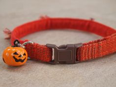 Pumpkin Fall Breakaway Cat Collar by CatPomPoms on Etsy