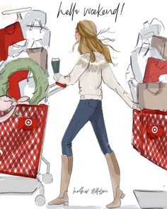 We are right in the middle of holiday shopping season! How's your list coming along? We are all real behind around here haha. Who's done shopping? Bon Weekend, Hello Weekend, Happy Weekend, Christmas Quotes, Christmas Pictures, Christmas Art, Xmas, Christmas Messages, Christmas Decorations