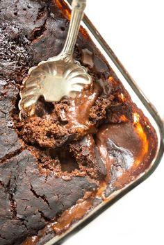 Gooey Pumpkin Spice Latte Chocolate Pudding Cake (vegan + gluten-free) – Oh She Glows