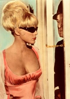 Elke Sommer and Bob Hope in 'Boy, Did I Get a Wrong Number!', 1966.