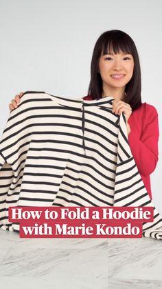 Home Organization Hacks, Closet Organization, Organising Tips, Folding Laundry, The Home Edit, Marie Kondo, Konmari, Clothing Hacks, Useful Life Hacks