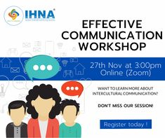 Learn the Fundamentals of Effective Communication! Speaking fluently and getting your message across clearly is crucial for your professional life as well as in everyday communication. #IHNA #CommunicationWorkshop Nursing Courses, Intercultural Communication, Web Conferencing, Effective Communication, You Are Invited, Workshop, Messages, Learning, Life