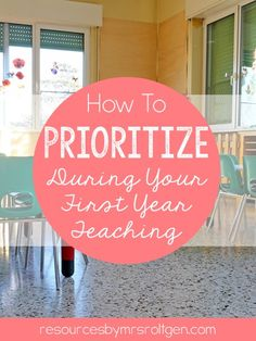 How to Prioritize During Your First Year Teaching | To try to help you prioritize everything on your to-do list, I have put together some things that I feel (in my opinion) youmust dono matter what,should doto have the best chance at a successful year,could doif you have time or feel up to it, and finally, things that youmust avoid. Great for back to school. These tips can apply for ANY teacher, but they were written by a Kindergarten teacher.