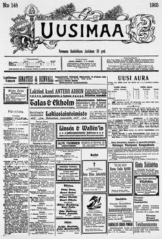 30.12.1903 Uusimaa no 148 - Sanomalehdet - Digitoidut aineistot - Kansalliskirjasto