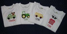 For the little wheel lovers!  Applique truck t shirts