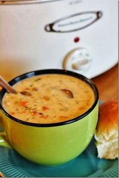 Turkey and Wild Rice Soup (slow cooker)  This turns out perfectly every time
