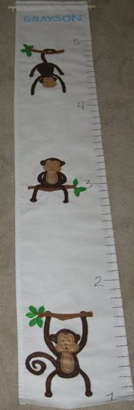 Fabric growth chart that I can easily roll up, for when we move.