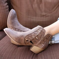 Current shoe crush: our Travis Light Brown Cut Out Ankle Booties ✨  #ShopatHER