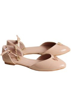 Bowknot Pointed Toe Light-pink Shoes  romwe.com
