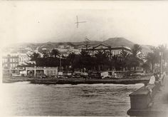 Los Astileros y Playa de San Telmo. Foto nº 46, de los archivos de la FEDAC, del fotografo Jordao da Luz Perestrello, de 1900, en Las Palmas de Gran Canaria