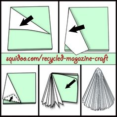 Recycled magazine Christmas tree craft // Árbol navideño con revista #reciclaje