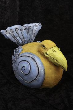 Big Bird/ Ceramic Sculpture By LisaLeeSculpture.com