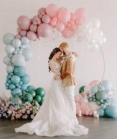 Tuftex Latex Balloon Canyon Rose PMS 1895 Balloon Company, Balloon Shop, Balloon Garland, Rainbow Wedding Decorations, Balloon Decorations, Balloon Ideas, Pastel Balloons, Celestial Wedding, Pinata Party