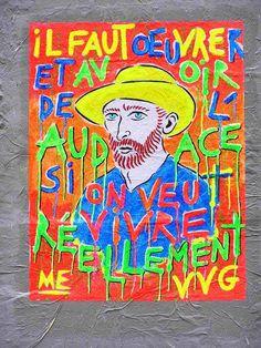 Artist :M E-paris Marlène Ehrhard....Portrait Vincent Van Gogh