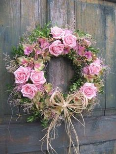 Pink roses wreath