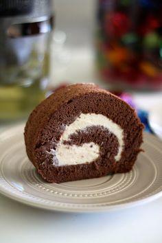 Jane's Corner: 可可蛋糕卷 (Cocoa Swiss Roll)