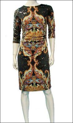 Paisley | Dress | Joseph Ribkoff  fall style coming soon