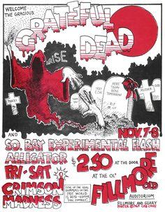 The Grateful Dead - concert poster - 1969.