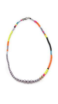 Color is so awesome! TOM BINNS Cuckoo Pearls Necklace