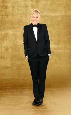 Ellen in tux | Ellen DeGeneres Wears a Tux in First 2014 Oscars Poster, Gets ...
