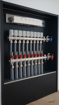 One for Gary Home Heating Systems, Underfloor Heating Systems, Hydronic Heating, Mechanical Room, Heating And Plumbing, Plumbing Installation, Bathroom Plumbing, Plumbing Pipe, Radiant Floor